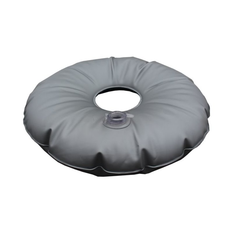 Placa de base, preto com saco de água cinza