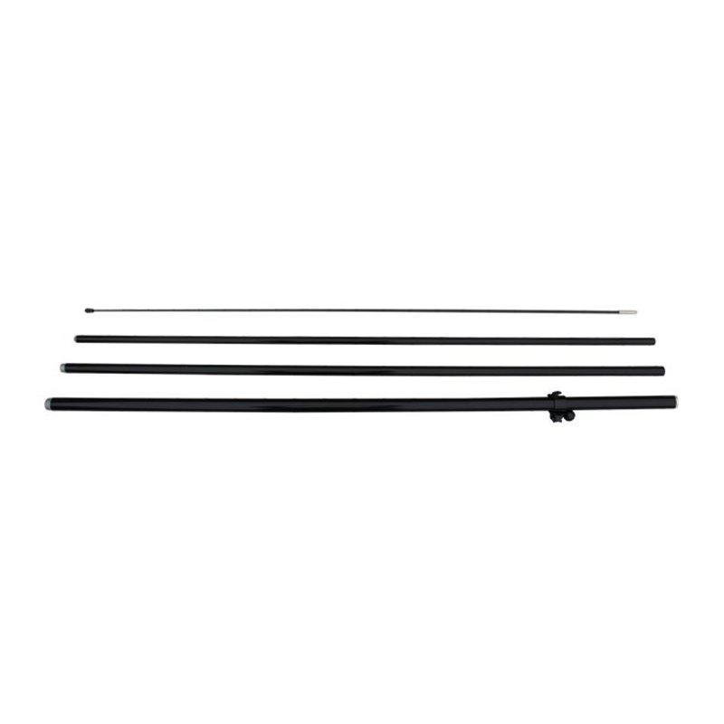 Beach flag pole M, double sided, black