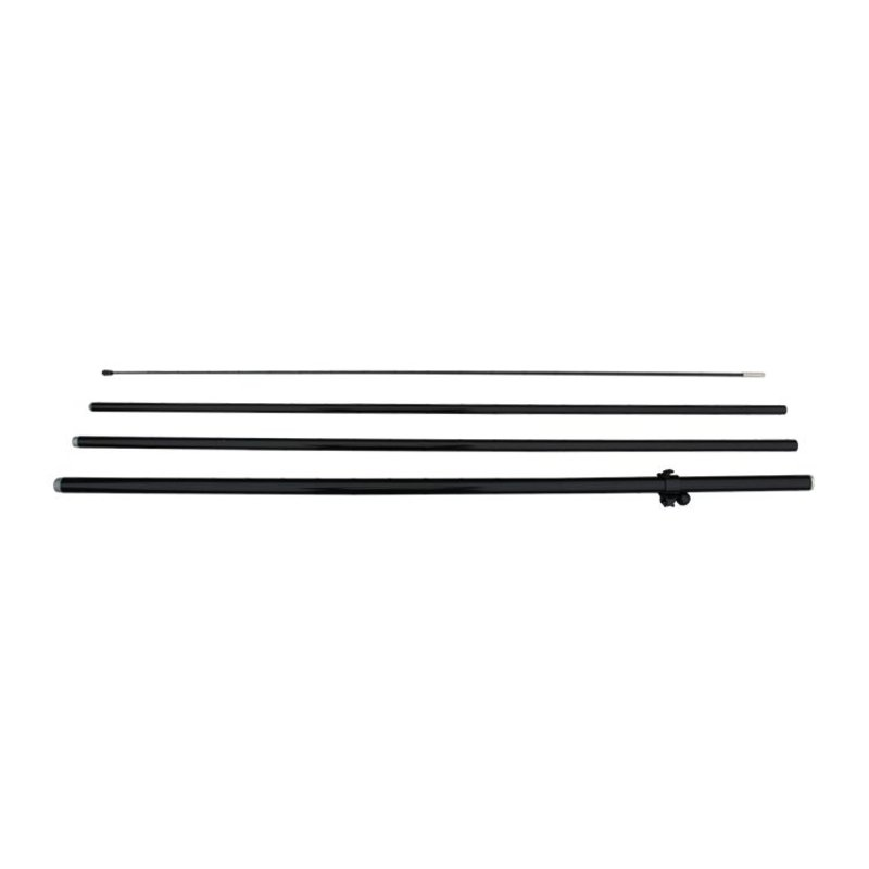 Beachflaggstång M, dubbelsidig, svart