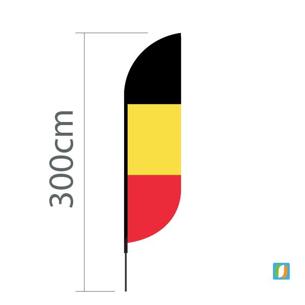 Originele beachflag België
