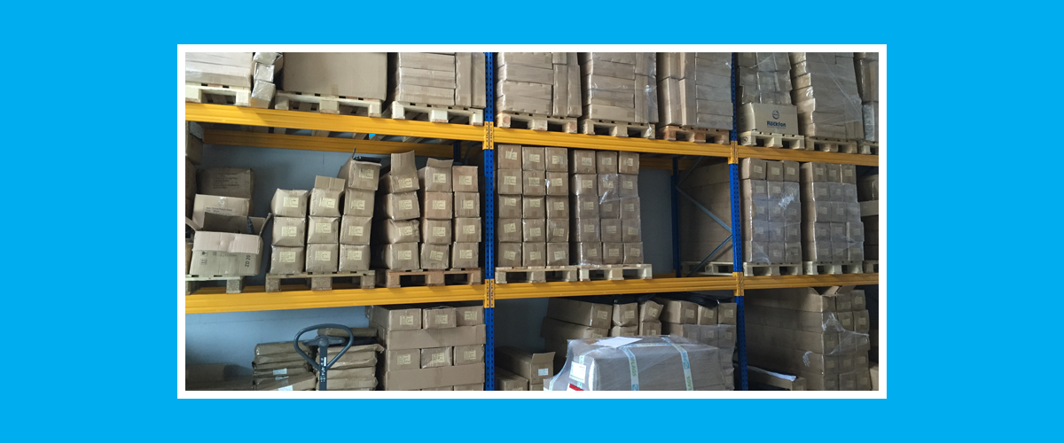 Vi har tilstrekkelig mengder varer for store bestillinger
