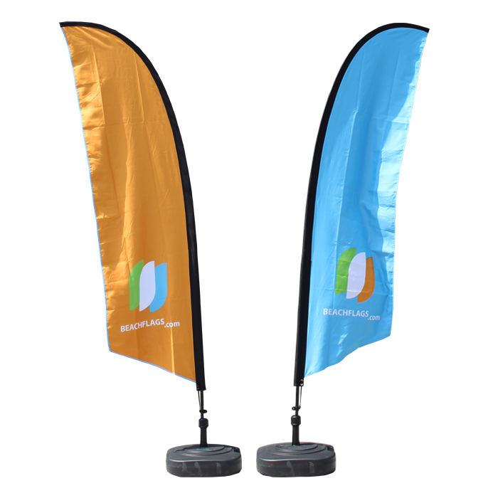 Double sided printed beach flags