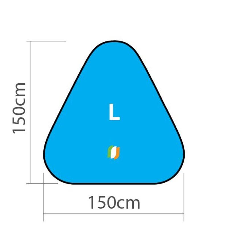 Beach banner Triangle - L 150x150 cm