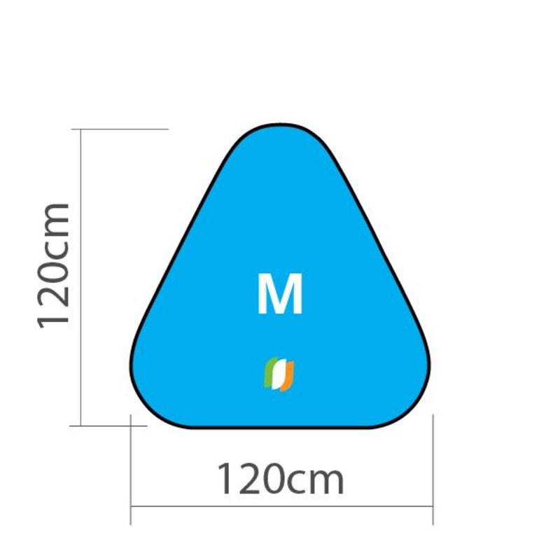 "Beach banner Triangle - M 120x120cm (47"" x 47"")"