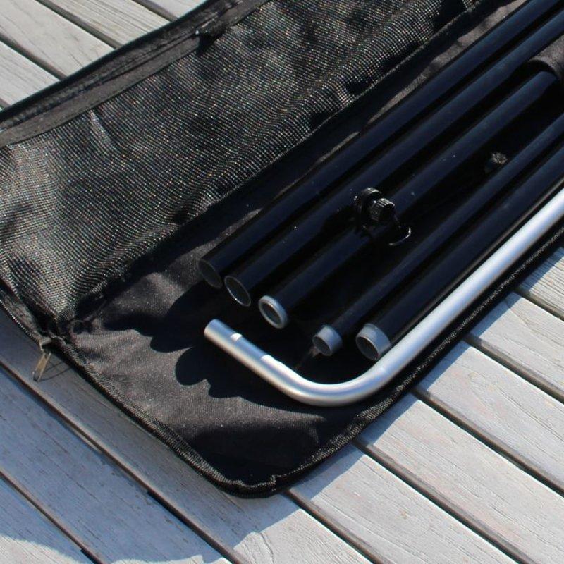 Beachflag Mast Block L, schwarz