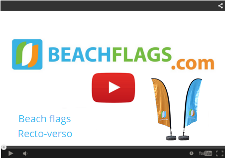 Beach flags Recto-verso
