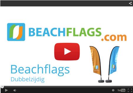 Beachflags Dubbelzijdig