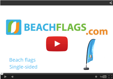 Beach Flags Single-sided