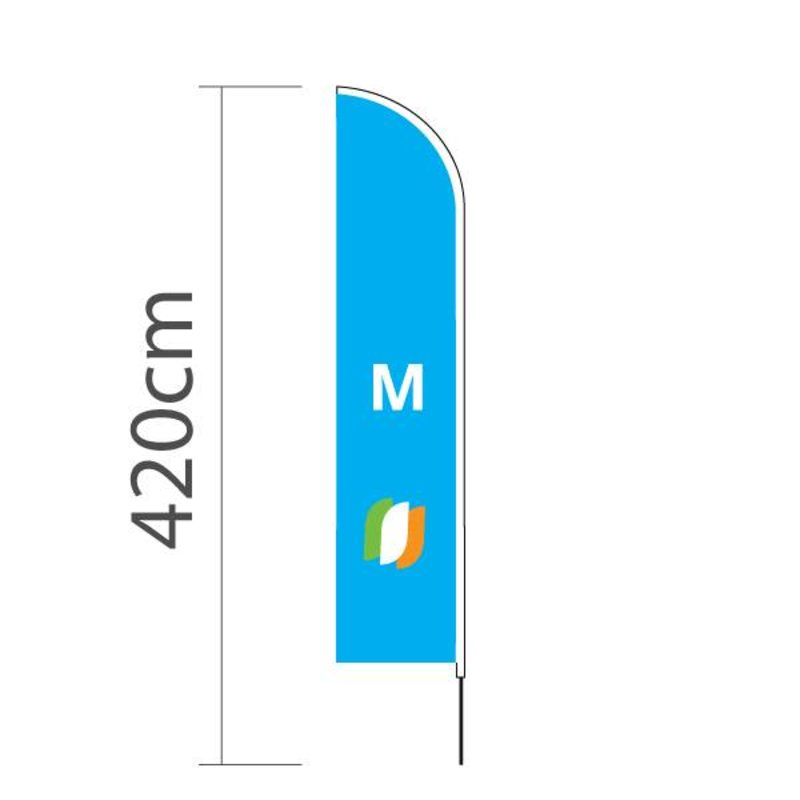 Beachflag Straight M - 70x330cm