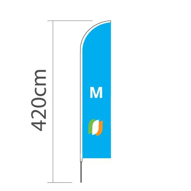 """Beach flag Straight M - 70x330cm (28"""" x 130"""")"""