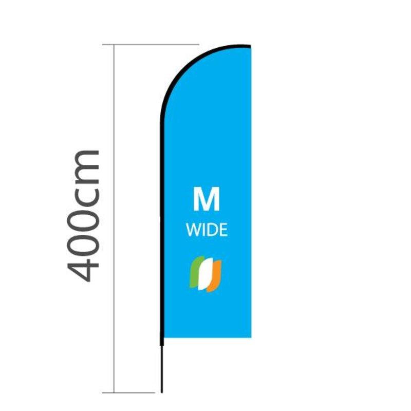 "Beach flag Straight M-Extra Wide - 90x300cm (35"" x 118"")"