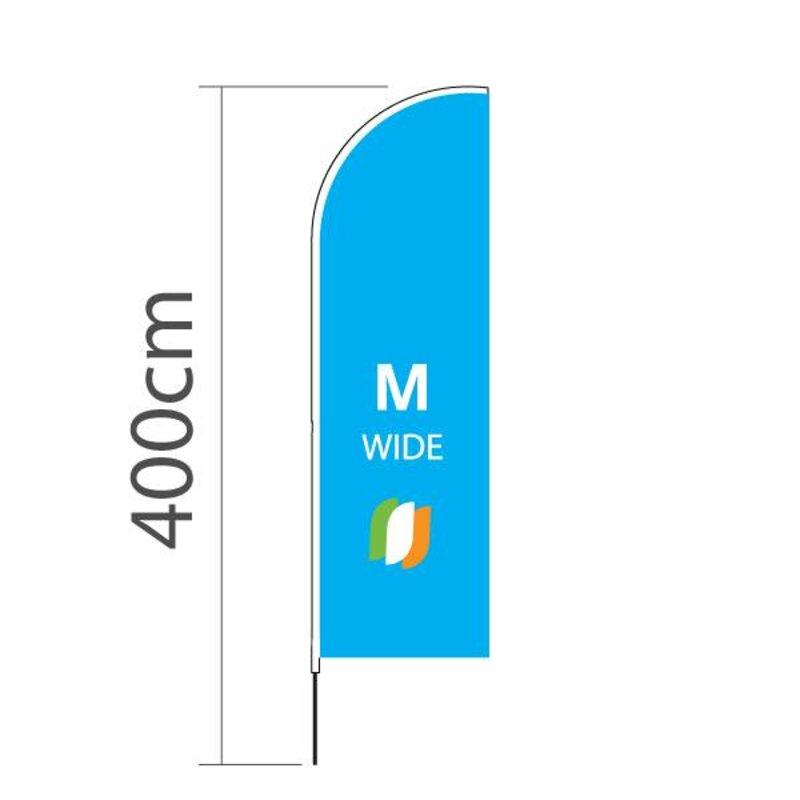 Beachflag Straight M-Extra breit - 90x300cm