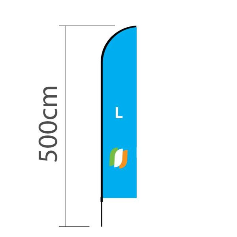 """Beach flag Straight L - 75x380cm (30"""" x 150"""")"""