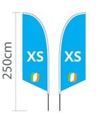 Beach flag Angled XS - 60x186cm