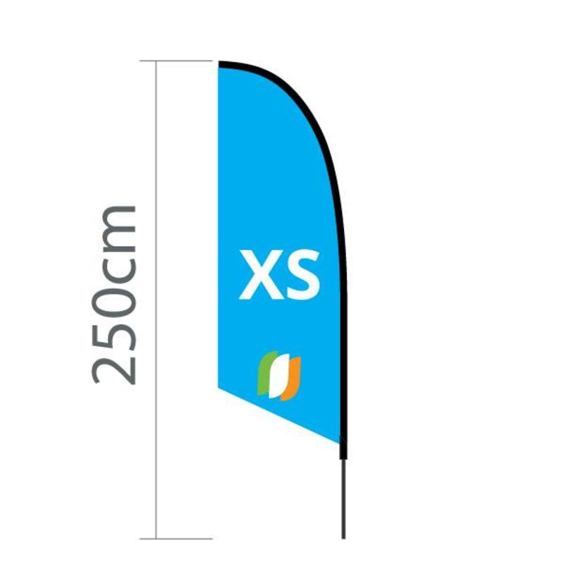 Beachflag Angled XS - 60x186cm