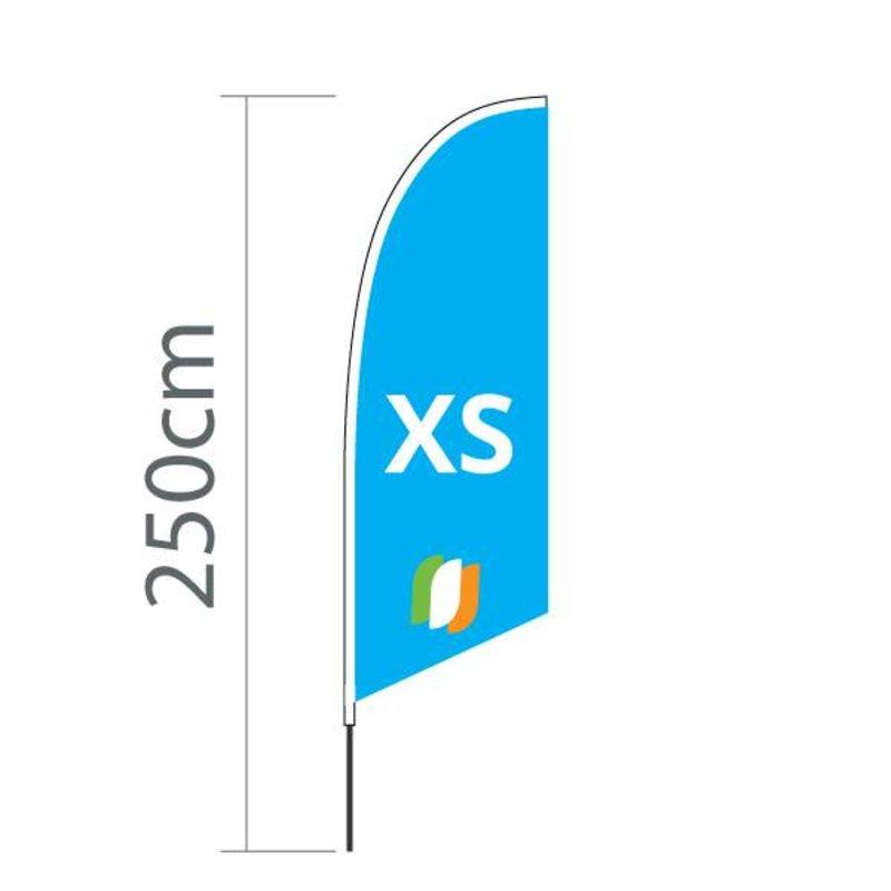 """Beach flag Angled XS - 60x186cm (24"""" x 71"""")"""