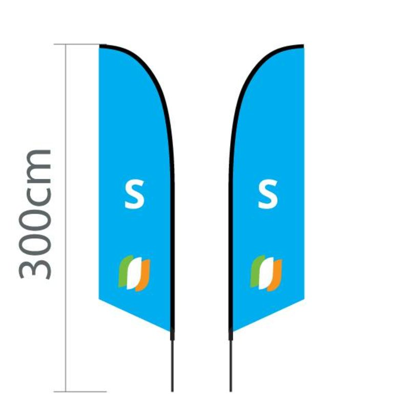 """Beach flag Angled S - 60x240cm (24"""" x 94"""")"""