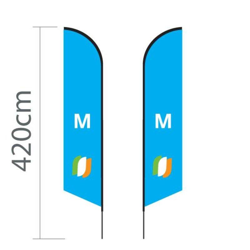 """Beach flag Angled M - 70x330cm (28"""" x 130"""")"""