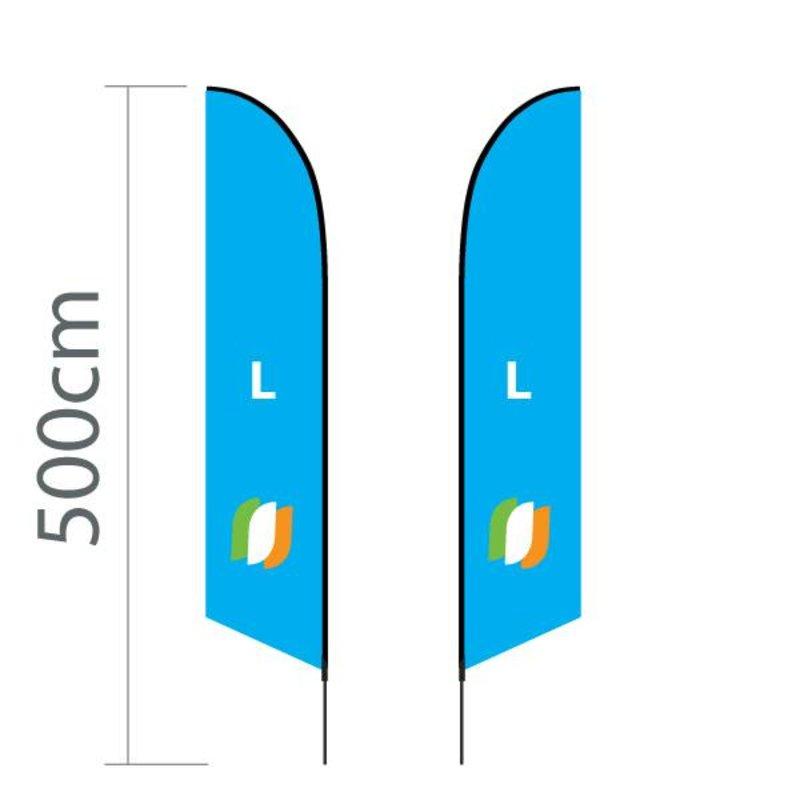 """Beach flag Angled L - 75x380cm (30"""" x 150"""")"""