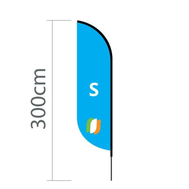 """Beach flag Convex S - 60x240cm (24"""" x 94"""")"""