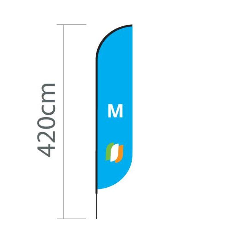 Beach flag Convex M - 70x330cm