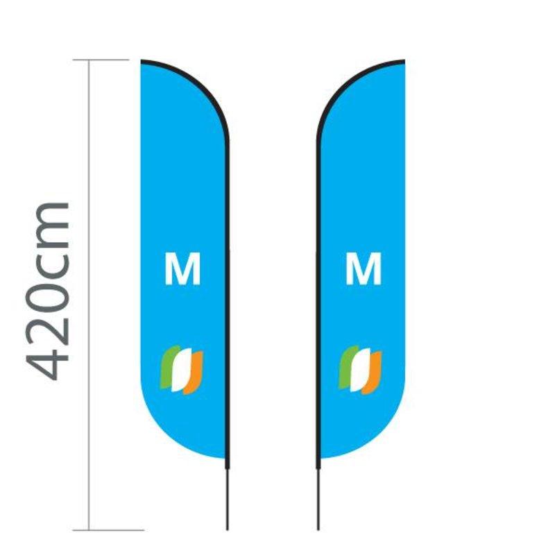 Beachflag Convex M - 70x330cm
