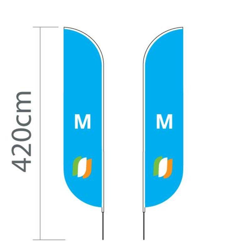 """Beach flag Convex M - 70x330cm (28"""" x 130"""")"""