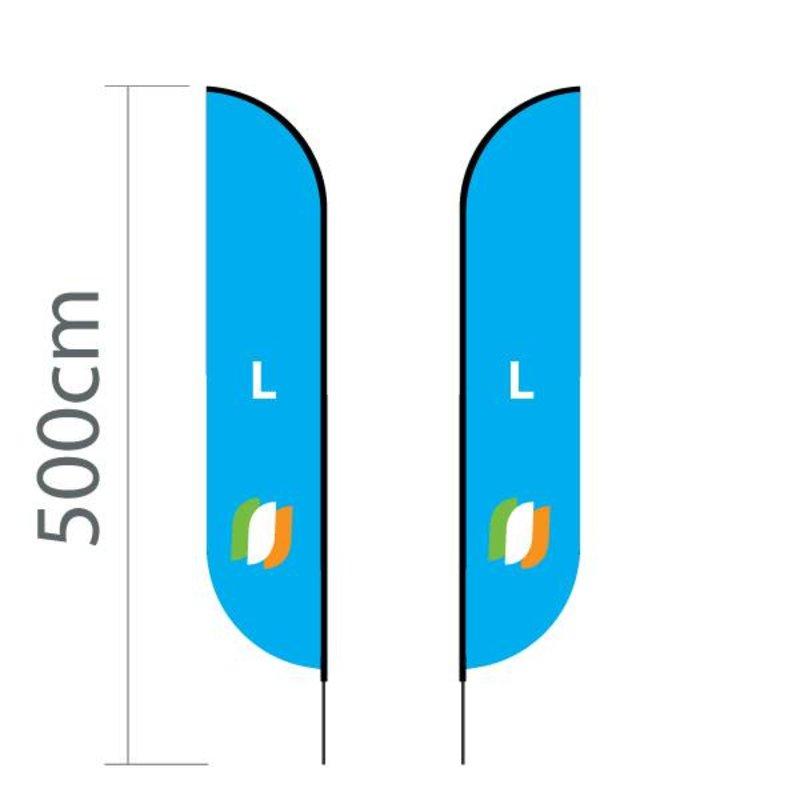 """Beach flag Convex L - 75x380cm (30"""" x 150"""")"""
