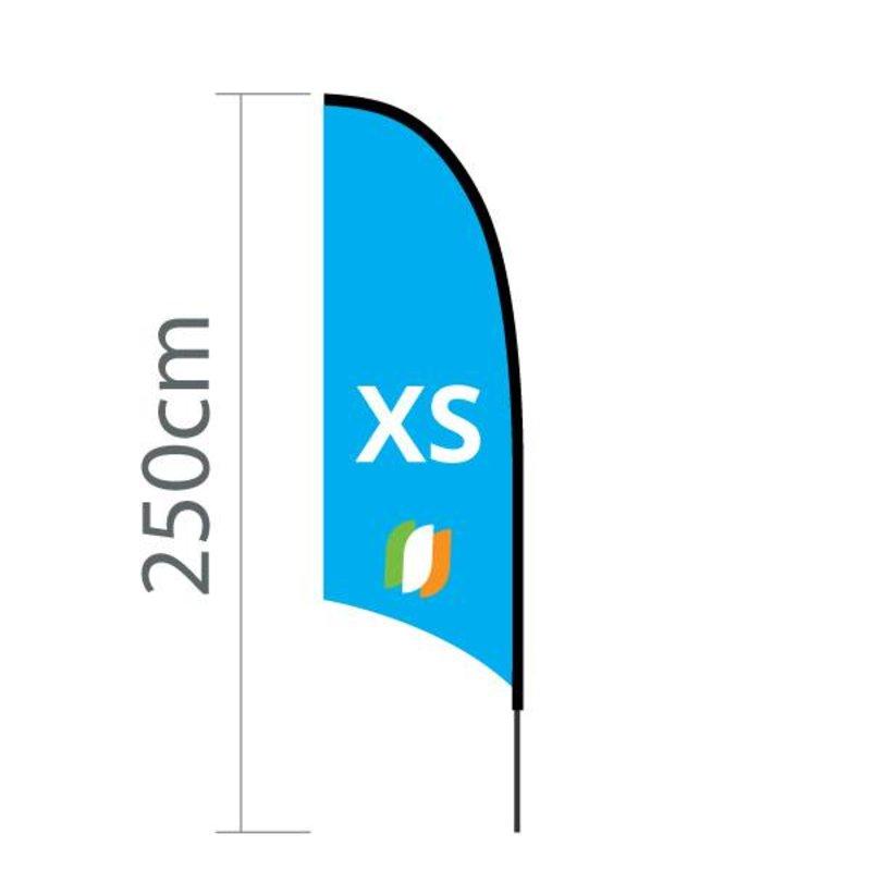 Beach flag Concave XS - 60x186cm