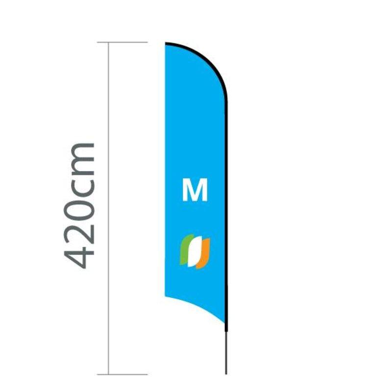 Beachflag Concave M - 70x330cm