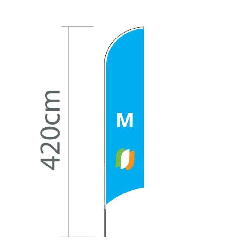 """Beach flag Concave M - 70x330cm (28"""" x 130"""")"""