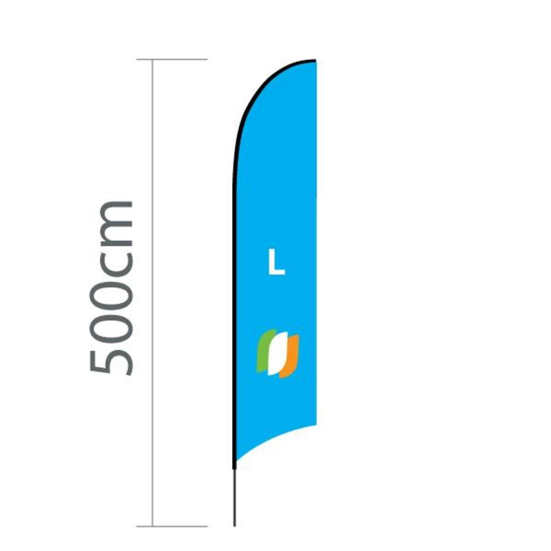 """Beach flag Concave L - 75x380cm (30"""" x 150"""")"""
