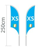 Beach flag Shark XS - 68x200cm