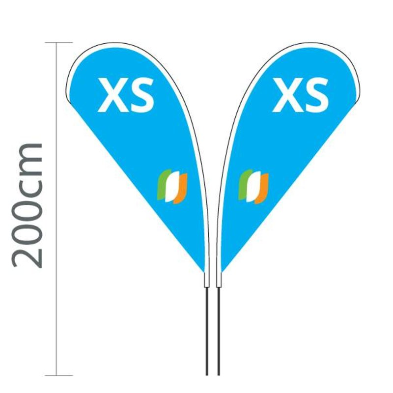 Beachflag Flying XS - 80x143cm