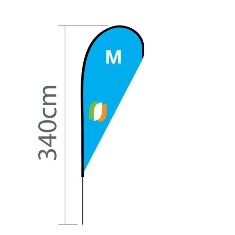 Beachflag Flying M - 100x240cm