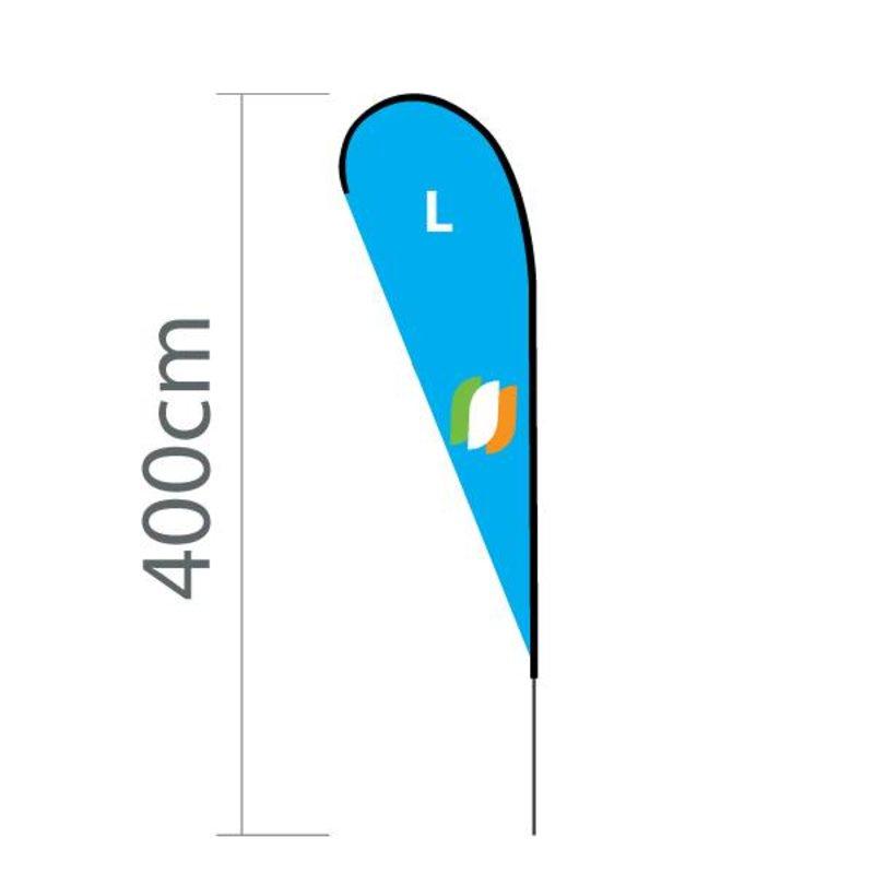 Beach flag Flying L - 100x300cm