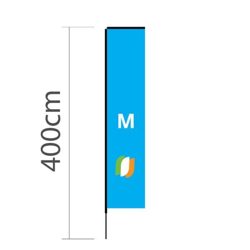 Beach flag Block M - 72x340cm