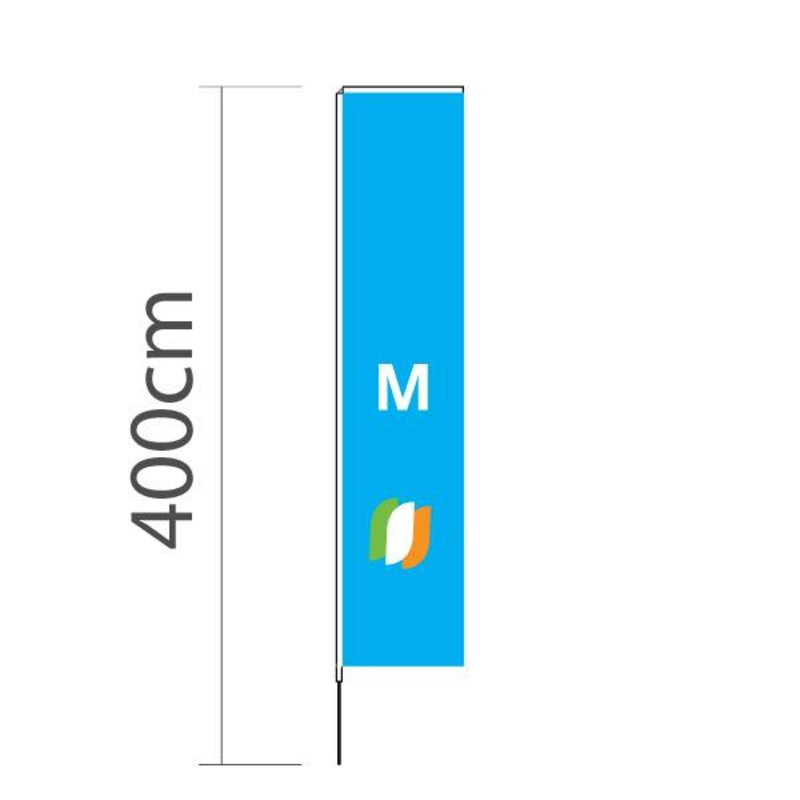 """Beach flag Block M - 72x340cm (28"""" x 134"""")"""