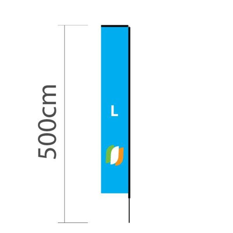 """Beach flag Block L - 72x440cm (28"""" x 173"""")"""