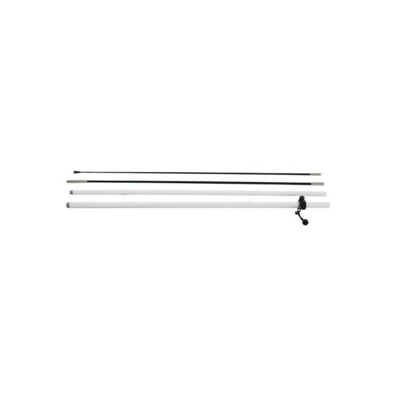 Beach flag pole S, white