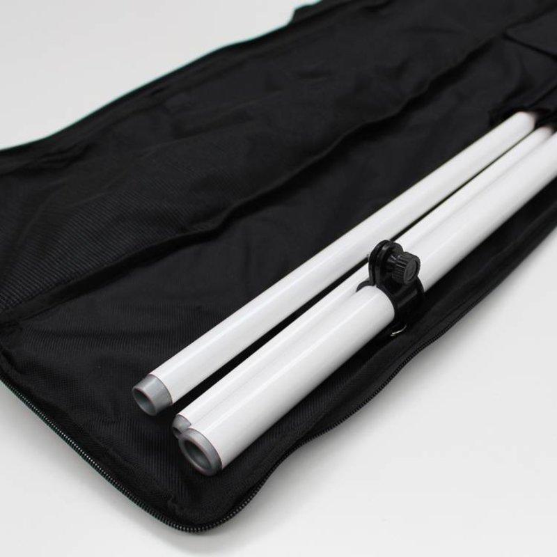 Beachflag stang M, Dobbeltsidet, vit