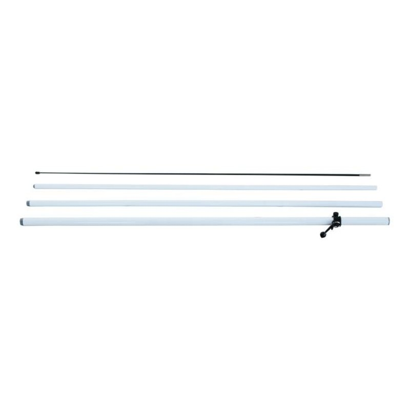 Beach flag pole M, double sided, white