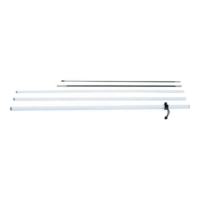 Beach flag pole L, white