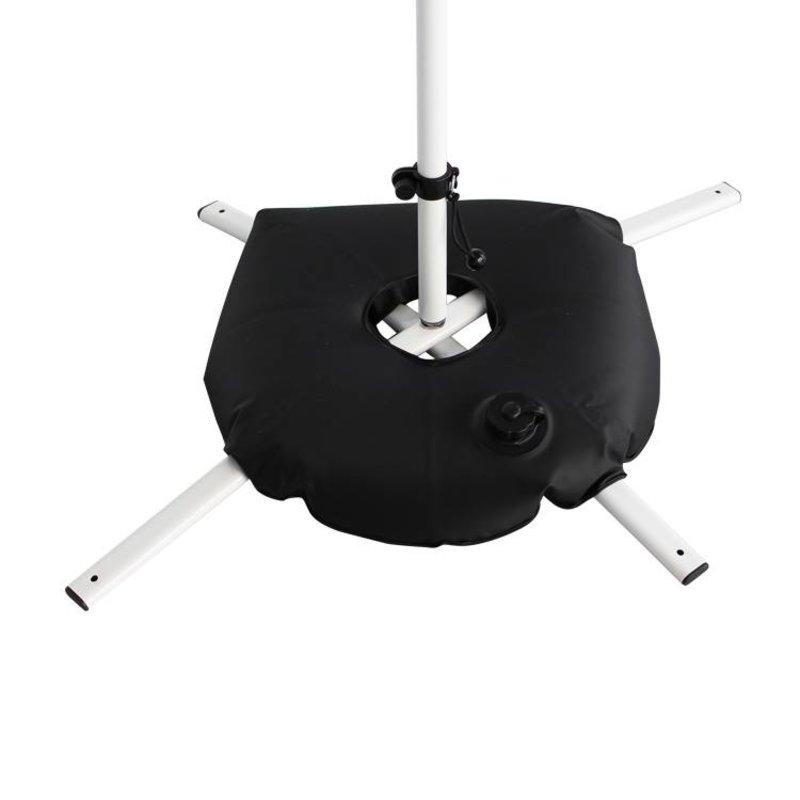 Base cruceta blanco con bolsa de agua negra