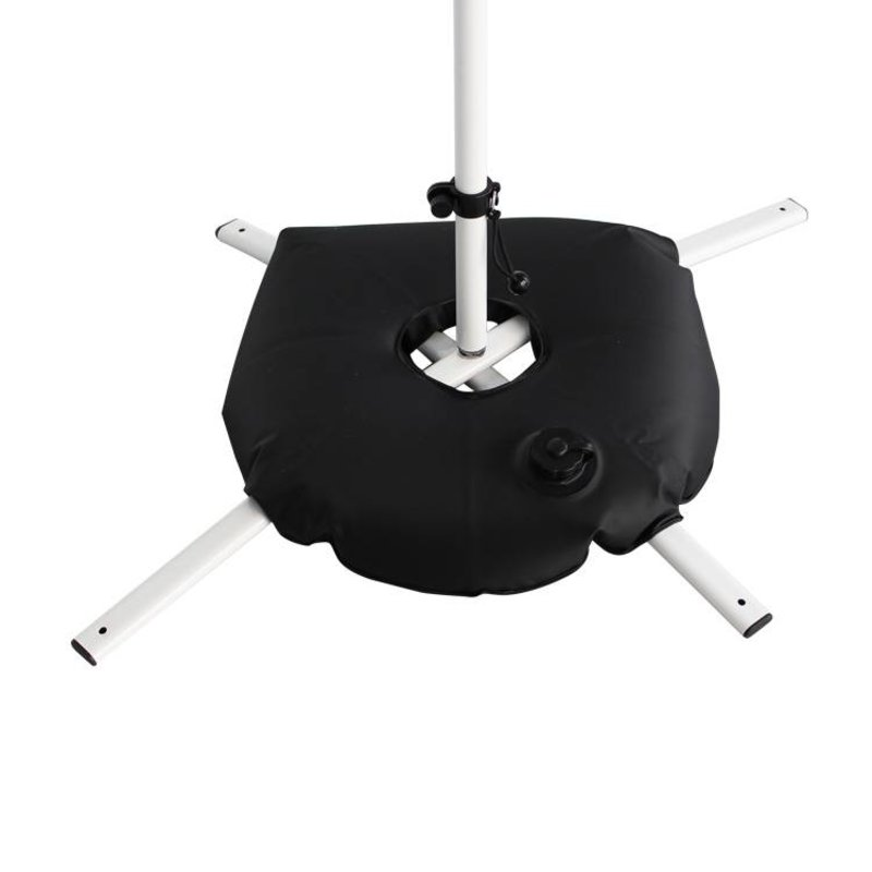 Cross base white with black water bag