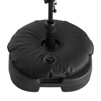 Beachflag parasolfod med vandpose sort