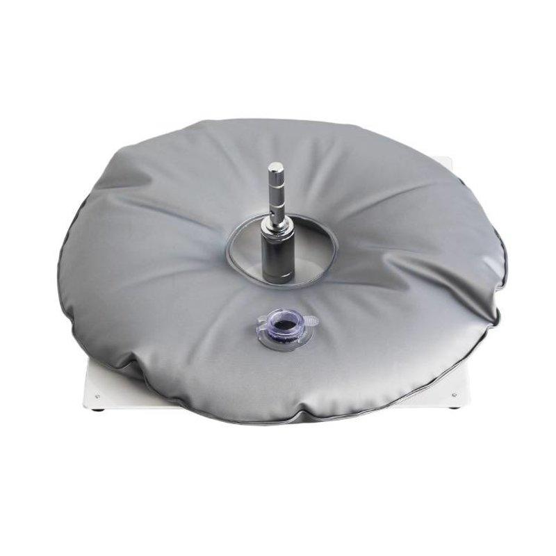 Bodenplatte, Weiß mit Wassersack grau