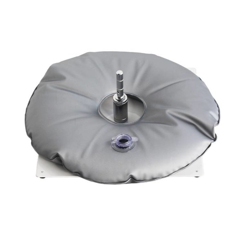 Ground plate, white with grey water bag