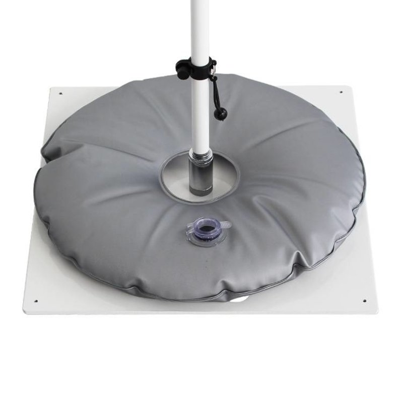 Placa base, heavy, blanca con bolsa de agua gris