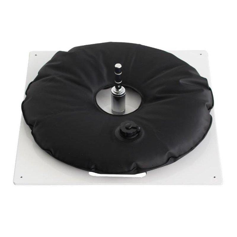 Grondplaat, extra zwaar, wit met zwarte waterzak